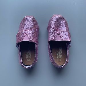 Toms Pink Sequin Shoes